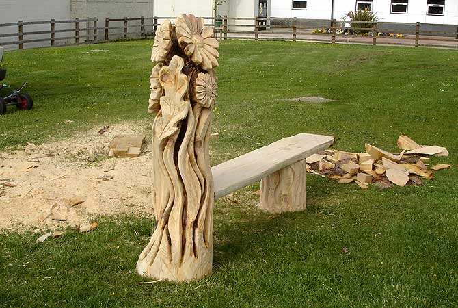 Chainsaw art creates wild wooden sculptures and furniture